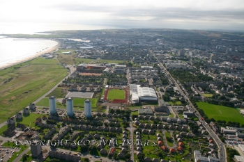 Aerial photography Scotland Aberdeen Linksfield